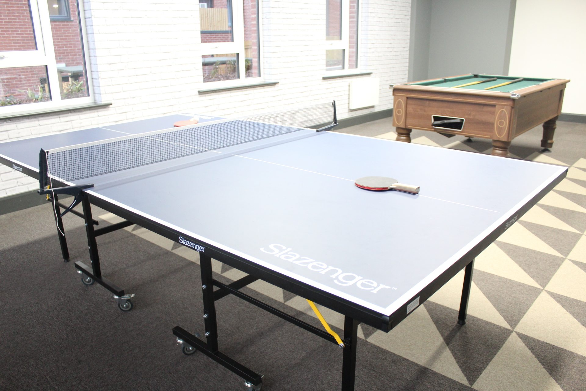 A games room - just one of the fabulous resident facilities at Clarendon Quarter