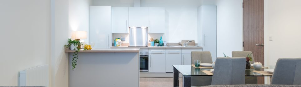 Sleek, modern stylings; our 2-bedroom apartments allow you create a fabulous home in Leeds