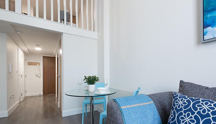 Our mezzanine studio apartments to rent in Leeds provide even more space for you to make use of!