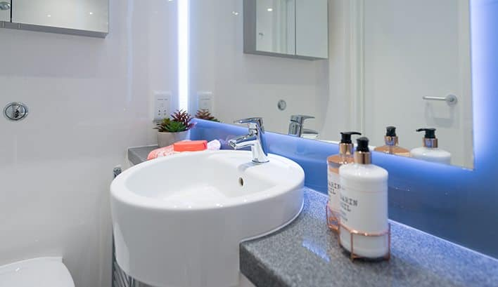 How about the high-spec finishes of our bathrooms as just one of the features of our large mezzanine studio apartments?