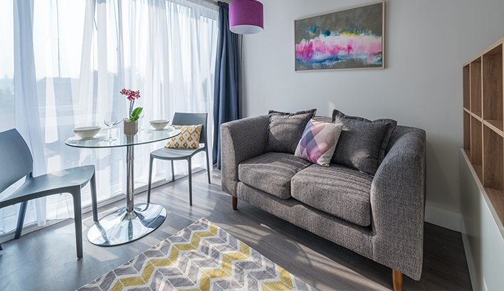Our studio flats in Leeds are bright, airy spaces; tailor-made for modern living